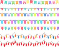 Sieben festliche horizontale nahtlose Muster Lizenzfreie Stockfotos