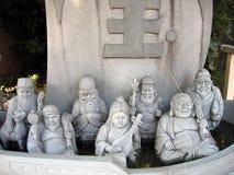 Sieben Götter Stockbild