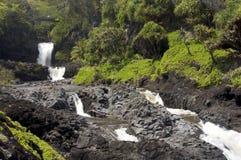 Sieben heilige Pools in Hawaii lizenzfreies stockfoto