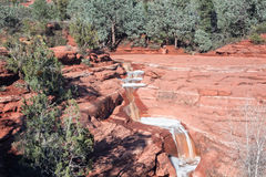 Sieben heilige Pools Sedona Arizona lizenzfreie stockbilder