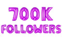 Sieben hundert tausend Nachfolger, purpurrote Farbe Lizenzfreies Stockfoto