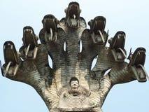 Sieben Köpfe Paya-Mujalainakkharat lizenzfreie stockfotos