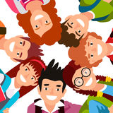 Sieben Kinderstand in einem Kreis Stockbild
