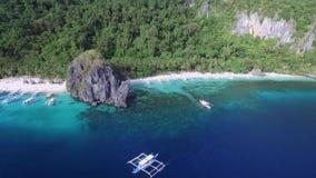Sieben Kommandos Strand und Papaya-Strand in EL Nido, Palawan, Philippinen stock footage
