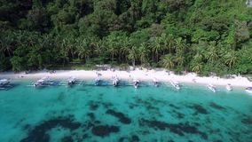 Sieben Kommandos Strand und Papaya-Strand in EL Nido, Palawan, Philippinen stock video