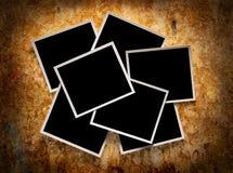 Sieben leere Fotographien Stockbild