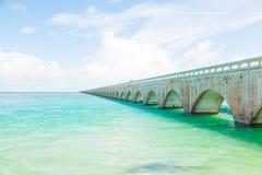 Sieben Meilen-Brücke in den Florida-Tasten Lizenzfreie Stockfotos
