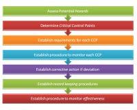 Sieben Schritte von HACCP-Art 26 Lizenzfreies Stockfoto