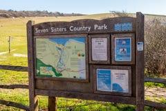 Sieben Schwester-Nationalpark an der Südküste von England nahe Eastbourne - EASTBOURNE, VEREINIGTES KÖNIGREICH - 2. FEBRUAR stockfoto