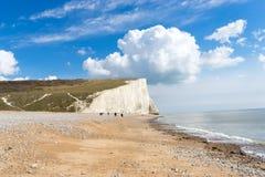 7 sieben Schwestern, Brighton, England Lizenzfreies Stockfoto