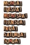 Sieben Tage der Woche Lizenzfreie Stockfotos