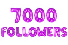 Sieben tausend Nachfolger, purpurrote Farbe Stockfotos