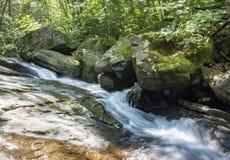 Sieben Wannen-Wasserfall Forest Stream lizenzfreies stockbild