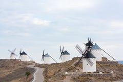 Sieben Windmühlen in Consuegra Lizenzfreie Stockbilder