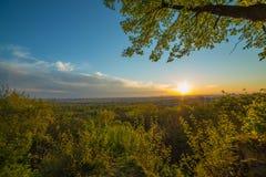 Siebengebirge blick aus Burgruine Tomburg Zdjęcia Royalty Free