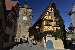 Siebers Tower in Rothenburg ob der Tauber, Germany Royalty Free Stock Image
