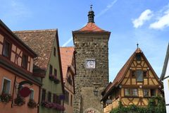 Siebers Tower in Rothenburg ob der Tauber Royalty Free Stock Photo