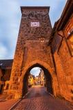 Siebersturm in Rothenburg Stock Afbeeldingen