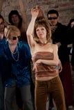 Siebzigerjahre Disco-Musik-Party Lizenzfreie Stockfotos