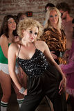 Siebzigerjahre Disco-Musik-Party Lizenzfreies Stockfoto