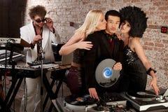 Siebzigerjahre Disco-Musik-Party Lizenzfreie Stockfotografie