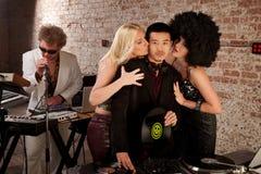 Siebzigerjahre Disco-Musik-Party Stockfotos