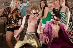 Siebzigerjahre Disco-Musik-Party Lizenzfreie Stockbilder
