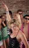 Siebzigerjahre Disco-Musik-Party Stockbilder