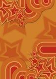 Siebzigerjahre Retro- Stern u. Kreis lizenzfreie abbildung