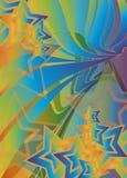Siebzigerjahre Retro- Swirly Sterne lizenzfreie abbildung