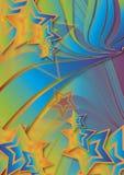 Siebzigerjahre Retro- Swirly Sterne vektor abbildung