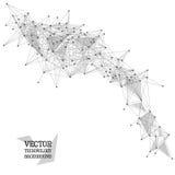 Sieci abstrakcjonistyczny poligonalny tło ilustracji
