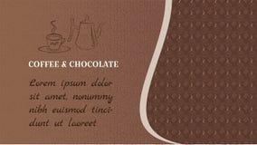 Sieci czekolada i Sztandar dla strony internetowej lub bloga Z przestrzeni? dla teksta Textural tło brązu kolor ilustracja wektor