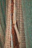 Sieci dla łowić ryba suszyć Fotografia Stock
