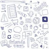 Sieci Doodles Fotografia Royalty Free