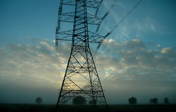sieci elektryczne tower Obrazy Stock