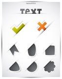 Sieci Etykietki Set Obraz Stock