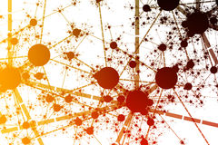 sieci farby splatter royalty ilustracja