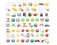 Sieci glansowane ikony Fotografia Stock