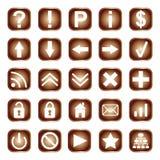 Sieci guziki, elementy lub ikony, Zdjęcie Royalty Free