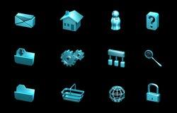 Sieci i internetów ikony. Dla stron internetowych, prezentacja royalty ilustracja