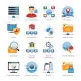 Sieci I interneta Płaskie ikony Ustawiać royalty ilustracja