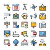Sieci i komunikacji ikon paczka ilustracja wektor