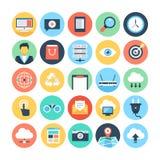 Sieci i networking Wektorowe ilustracje 1 Zdjęcie Stock