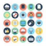 Sieci i networking Wektorowe ilustracje 3 Obrazy Stock