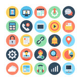 Sieci i networking Wektorowe ilustracje 5 Obraz Stock