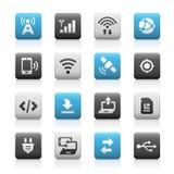 Sieci i wiszącej ozdoby ikony 6 - Matte serie Fotografia Stock