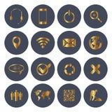 Sieci i wiszącej ozdoby ikony Obraz Stock