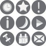 9 sieci ikon Ustawiających royalty ilustracja
