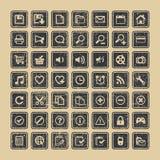Sieci ikon wektor ustalony eps 8 Obrazy Royalty Free